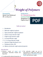 Weight of polymer