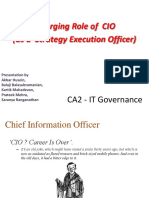 Roles & Expectations from CIO's