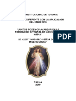 Plan Institucional de Tutoria Nsm