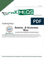 Auditing Mcqs for Senior Auditor, Junior Auditor - Accounts Fpsc,Psc,Nts(1)