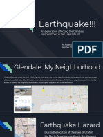 earthquake in glendale slc ut