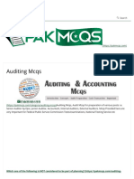 Auditing Mcqs for Senior Auditor, Junior Auditor - Accounts Fpsc,Psc,Nts(2)