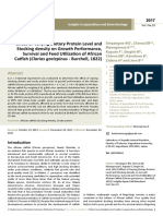 Effect of Varying Dietary Protein Level Andstocking Density on Growth Performancesurvival and Feed Utilization of Africancatfish c (1)