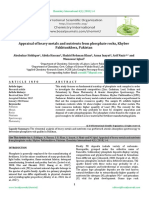 Appraisal of heavy metals and nutrients from phosphate rocks, Khyber Pakhtunkhwa, Pakistan