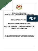 Dokumen Sebut Harga Bekalan Aksesori Perkakasan Server Dan Komputer