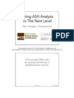 ASH to Next Level - Plans and Parsing