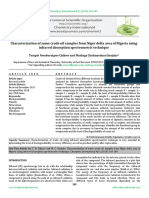 Characterization of some crude oil samples from Niger delta area of Nigeria using infrared absorption spectrometric technique