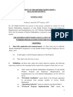 The Khyber Pakhtunkhwa Regulation of Lady Health Workers Program Employees Service Rules 2014
