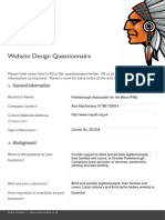 Brave Website Design Questionnaire