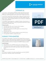 Spesifikasi filter holder Duran