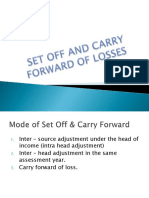 Set Off and Carry Forward Ppt