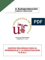 Plan de Autoprotección (Documento abreviado). CRAI Antonio de Ulloa