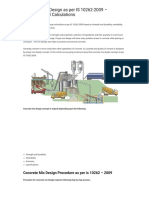 Concrete Mix Design as Per is 10262-2009 - Procedure and Calculations