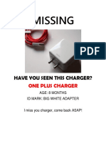 Missing Charger
