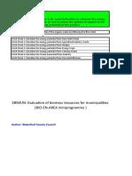 Biogas Calculator Template