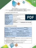 Guía de actividades y rúbrica de evaluación - Paso 5 - Realizar un artículo con los resultados de la auditoría (2).docx