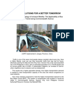 Traffic Solutions for a Better Tomorrow (Popularization)