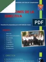 Funciones de La Directiva de Conquistadores