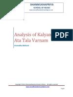 Analysis of Kalyani Ata Tala Varnam