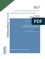 057-Manejo Da Dor Pós-operatória Em Pacientes Adultos