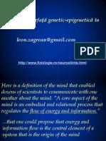 Mintea- Interfață Genetic - Epigenetică În Sănătate