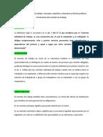 CÉDULA DERECHO LABORAL CONTRATO INDIVIDUAL DEL TRABAJO