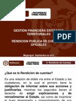 PRESENTACION QUE ES LA RENDICION DE CUENTAS Y RESOL. N° 0410-2014