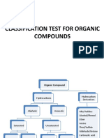 Experiment 6 and 7 Classification Tests for Organic Compounds