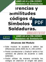 AWS A2.4 & EN 22553 - Diferencias y similitudes - Simbolos de Soldaduras.ppt