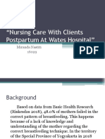 Nursing Care With Clients Postpartum at Wates