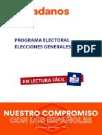 Programa Electoral de Ciudadanos
