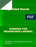 Seguridad Social Profesor Subsidio Por Incapacidad Laboral DFL44