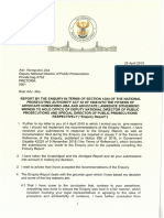 President's Letters to Adv Kiba and Mrwebi
