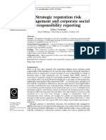 RESUMEN_Strategic Reputation Risk Management and Corporate Social Responsibility Reporting