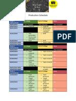 productin schedule