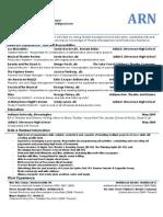 ARN Production Resume