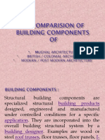 Comparision of Building Components