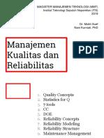 1. Materi Manajemen Kualitas Dan Realibilitas