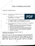 David Rapport Lachterman Hegel and the Formalization of Logic