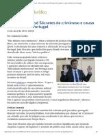ConJur - Moro Chama José Sócrates de Criminoso e Gera Mal-estar Em Portugal