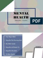 Presentation for mental health