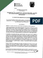 Acuerdo No 258 de 24 de Febrero de 2015