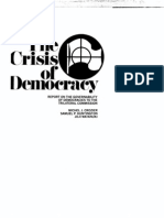 The Crisis of Democracy. the Trilateral Commission.