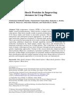 Role of Heat Shock Proteins in Improving Heat Stress Tolerance in Crop Plants