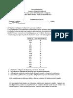 Examen Parcial 2 - Modelamiento e Indagación - 2019-I