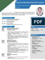 Currículum Vitae_Carolyn Escalante Calero