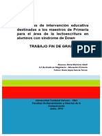 Martínez Adell, Alicia_TFG_Estrategias de intervención educativa destinadas a los maestros de Primaria para el área de la lectoescritura en alumnos con Síndrome de Down.pdf
