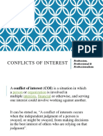 Conflict of Interest and Confidentiality