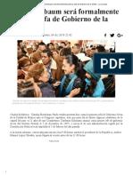 Hoy, Sheinbaum Será Formalmente Primera Jefa de Gobierno de La CDMX - La Jornada