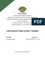 Derecho Mercantil El Atraso y La Quiebra